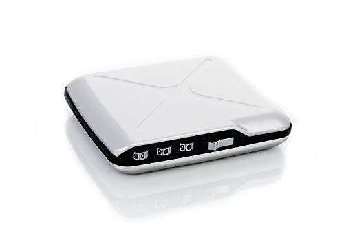 Ögon Smart Wallets - Code Wallet Cartera Tarjetero - Protección RFID: Protege Tus Tarjetas de Robar - hasta 10 Tarjetas + Recibos + Billetes - Aluminio anodizado (Silver)