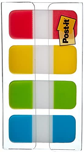 Post-it Index 676-ALYR-EU - Set Mini Marcador Fuerte, Turquesa / Lima / Amarillo / Rojo, (paquete de 40)