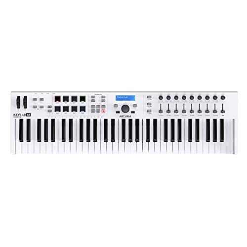 Arturia KeyLab Essential 61 Keyboard MIDI Controller Includes Analog Lab software with 6000 synth sounds