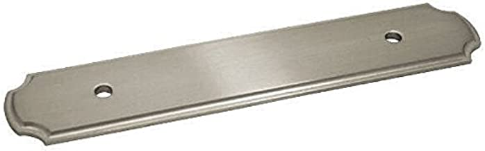 25 Pack - Cosmas B-112-96SN Satin Nickel Cabinet Hardware Handle Pull Backplate/Back Plate - 3-3/4