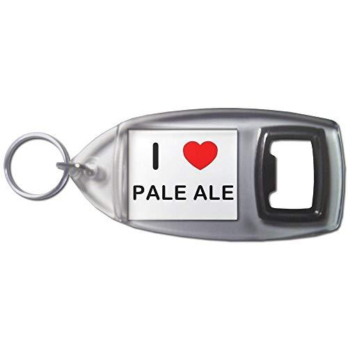 BadgeBeast.co.uk I love Pale Ale - Llavero abridor de botellas de plástico