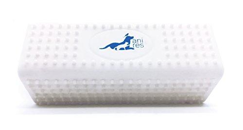 kubi - Tierhaarentferner für Kleidung, Auto, Möbel, Sofa, Teppich. Abwaschbar, hygienisch, easy. Auch als Hundebürste, Katzenbürste und Massagebürste verwendbar. Klein, handlich, leicht. 1 Stück, weiß