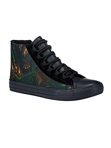 Ombre Zapatillas para Hombre Altas con Diseños Urbanos Tenis Sneakers Calzado Zapatos con Cordones de Gimnasia Skate Casual
