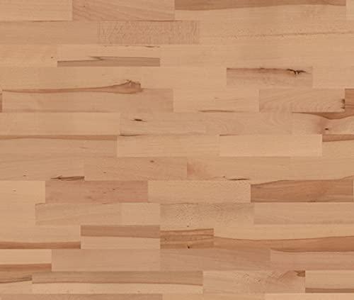 HORI® Klick Parkett Dielenboden Parkettboden Buche Color gedämpft Variant Schiffsboden 3-Stab versiegelt I Buche I 4 Dielen im Paket = 1,92 m²