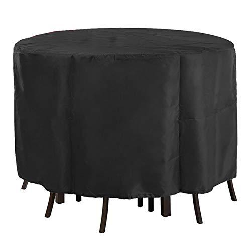 Autopeck Garden Furniture Set Covers Housse de Protection Circulaire pour  Meubles de Jardin - pour Table Ronde - Imperméable - Tissu Oxford Respirant  ...