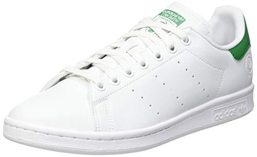 adidas Stan Smith Vegan, Sneaker Hombre, Footwear White/Green/Footwear White, 42 2/3 EU