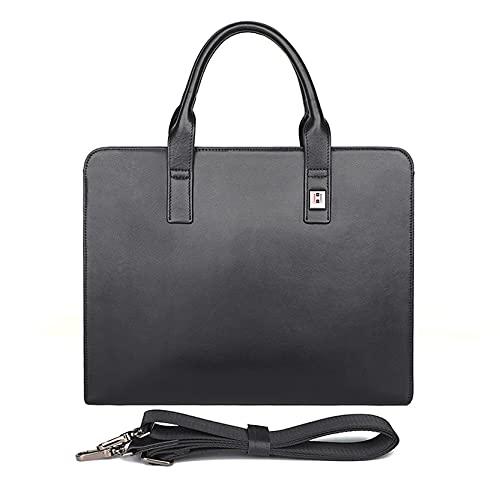 Bolso bandolera para portátil de 13 pulgadas, de piel auténtica, para hombre, cartera de oficina, bolso de mensajero con correa para el hombro, para PC, Netbook Classic St