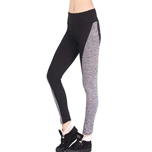 Generic Pantalon De Yoga pour Femme Taille Haute Puissance Stretch Tummy Control Collants d'Entraînement Running Legging