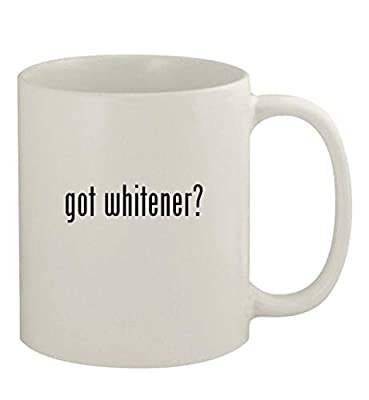 got whitener? - 11oz Ceramic White Coffee Mug, White