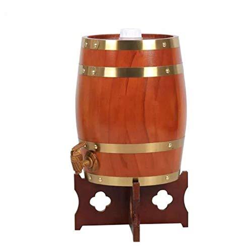 Barril de Roble Toneles de Vino Barril de Madera Barril de madera de roble, Barril De Whisky Dispensador de agua estéreo, Adecuado para Barras o grandes reuniones, Puede almacenar Cerveza brandy vino