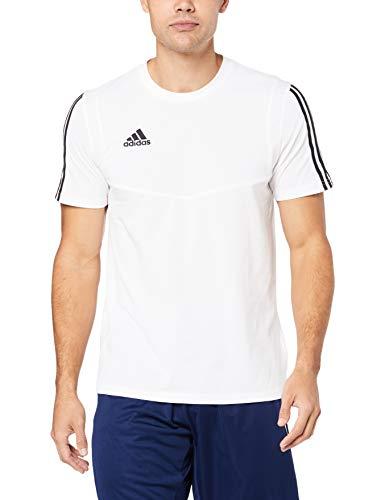 adidas TIRO19 tee Camiseta de Manga Corta, Hombre, White/Black, 4XLT