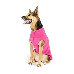 Gold Paw Stretch Fleece Dog Coat – Soft, Warm Dog Clothes, Stretchy Pet Sweater – Machine Washable, Eco Friendly – All Season – Sizes 2-33, Fuchsia, Size 6