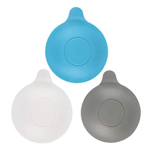 Tapones de Drenaje universales de 3 Piezas para bañera, Ducha y Fregadero de Cocina, Tapa de tapón de Drenaje extraíble, Evita el Drenaje de Agua (Gris/Azul/Blanco).