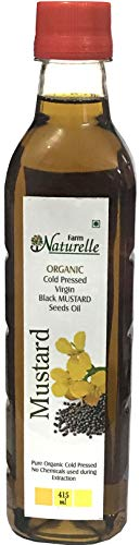 Farm Naturelle Black Mustard Oil Cold Pressed -100% Natural - 415 ML (14.03oz)