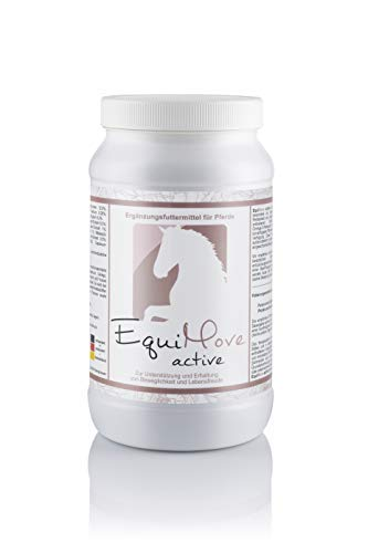 EquiMove active - Hochwertiges Ergänzungsfuttermittel (1,5 kg) mit 10 Vitalkräuter-Extrakten und der Omega-3-Fettsäure EPA.