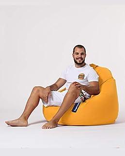 Sugarpufy zitzak met rugleuning, comfortabele Bean Bag met rugleuning, als zitkussen en stoel met vulling, ritssluiting om...