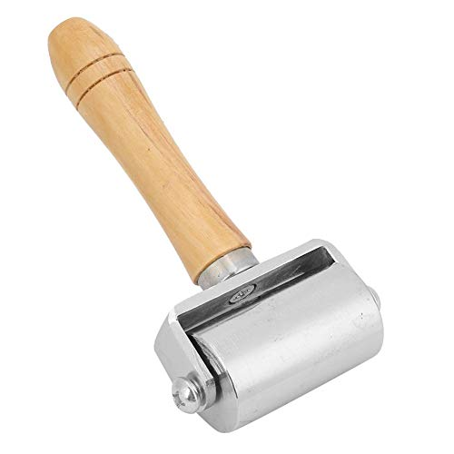 Rodillo de borde de prensa de cuero de 26/60/100 mm, rollo de mango de madera Leathercraft DIY Creaser de borde de trabajo manual de cuero(M)