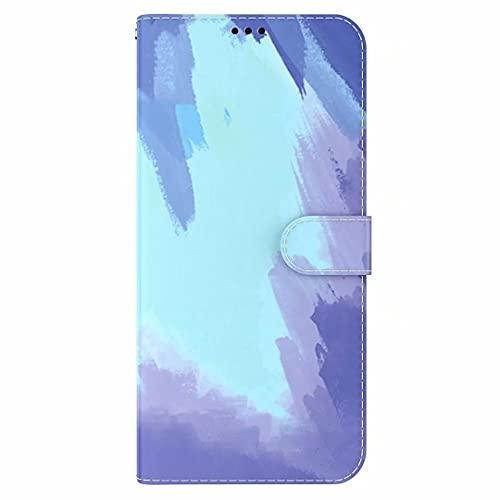 TUUNKMUY Hülle für Oppo Find X3 Neo/Reno5 Pro+ 5G Handyhülle Lederhülle Premium PU Leder [Standfunktion] [Kartenfach] [Magnetverschluss] Flip Book Hülle Cover Schutzhülle Handytasche Etui Winterschnee