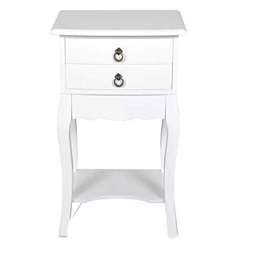 Dioche Mesita de noche universal en color blanco, muebles de noche, cama...