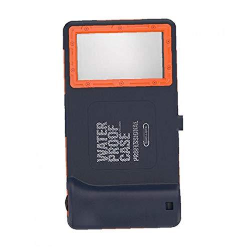 Berrywho Funda Protectora del teléfono Carcasa Impermeable Universal del Caso con Todo Incluido por teléfono al Caso Impermeable para Azul Naranja