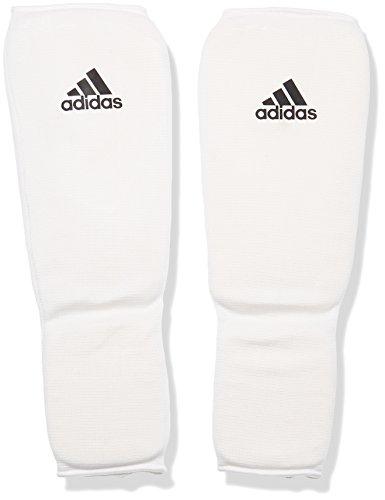 adidas Schienbeinschoner Kickboxen Shin-n-Step Pad Schienbeinschutz, Weiß, M