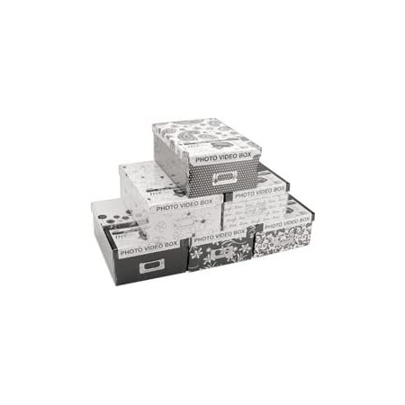 Pioneer Albums Photo Storage Box 4.5 inch x 8 inch x 11.5 inch Assorted Designs B1 3-Pack