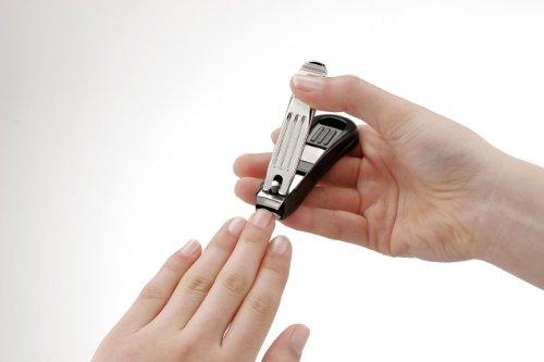 匠の技キャッチャー付きステンレス製高級つめきりカーブ刃G-1014