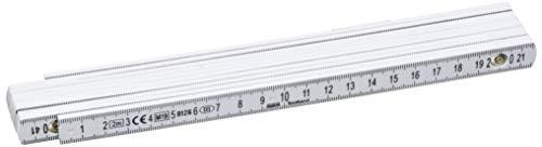 Perel 3412-2 Glasfaser Gliedermaßstab, 2 m Länge (1-er pack)