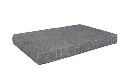POKAR Palettenkissen - Sitzkissen 120x80cm mit abnehmbarem Bezug, Kaltschaum, Palettenauflage Palettenpolster Palettensofa, für drinnen und draußen, ohne Paletten, Grau