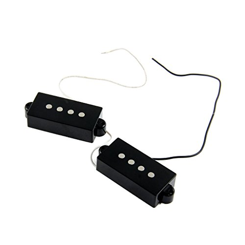 2 Pieces 4-String Noiseless Open Style Pickup for Precision Bass Guitar...
