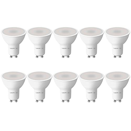 LE GU10 LED, 5W 450lm LED Leuchtmittel, 2700K warmweiß Birne GU10 Lampe ersetzt 50W Halogenlampen, 100° Strahlwinkel Reflektorlampen, 10 Stück