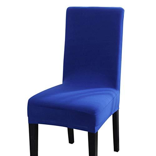 BANGSUN Fundas elásticas para silla de elastano, protector elástico para hotel, color azul, 1 unidad