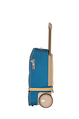 XTEND SMART BIOMETRIC FINGER SENSOR CABIN LUGGAGE CARRY-ONs (Ink Blue/Champagne)