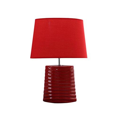 Lighting Store Nachttischlampe, Studie Schlafzimmer Eingang Wohnzimmer Lernen Büro neben der TV Cafe Tischlampe rot Keramik Tischlampe E27 Netzschalter Taste 35 * 50cm (größe : 35 * 50CM)