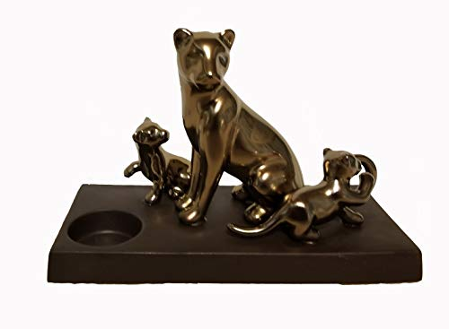 ShoppeShare Lion and Cubs Metallic Candle Holder and Tealight Bundle -Home Décor - Retired PartyLite
