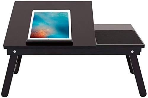 Soporte de Portátil Soporte de computadora portátil para escritorio Cama portátil Sofá Mesa Multifunción Desktop Plegable Puede ser inclinado Libros de lectura Negro, 542x351x230mm Soporte para laptop
