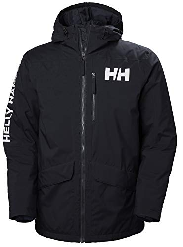 Helly-Hansen Men's Active Fall 2 Waterproof Windproof Breathable Parka, 597 Navy, Large (53325)