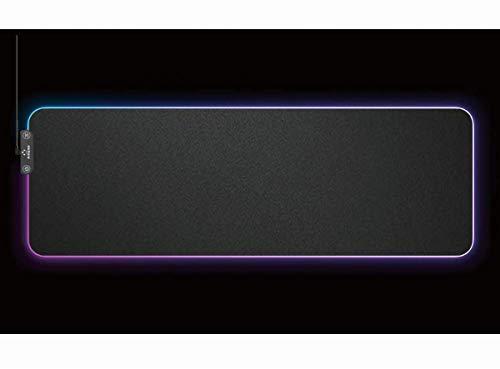 Tappetino Gaming, Tappetino Mouse rgb Led con Base in Gomma Antiscivolo e Superficie Resistente - Modalità luce Memoria Automatica, Tappetino Mouse per Tastiera / Computer / PC Gaming - XXL