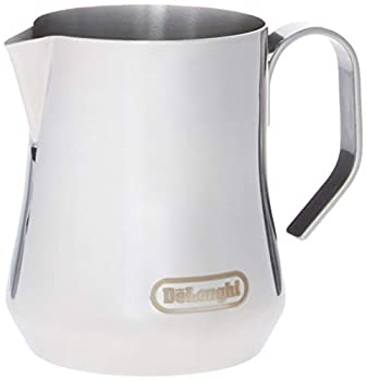 De Longhi Stainless Steel Milk Frothing Pitcher 12 ounce  350 ml  Barista Tool Frother Jug for Espresso Machine Coffee Cappuccino Latte Art DLSC0 12 oz