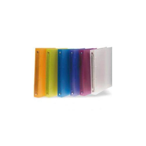 STARLINE confezione da 6 pezzi - raccoglitore a4 4r 16mm in ppl trasparente colorato starline