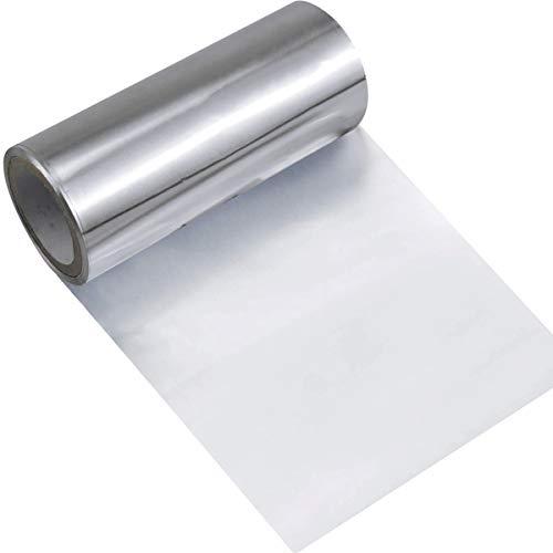 Dokpav Carta stagnola alluminio, 1 Carta argentata in rotolo, Carta Stagnola, parruchieri estetica per Evidenziare Colore Manicure Capelli Alluminio(16mx12cm)