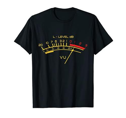 VU Meter Retro Hi-Fi Vintage Stereo Amante Camiseta