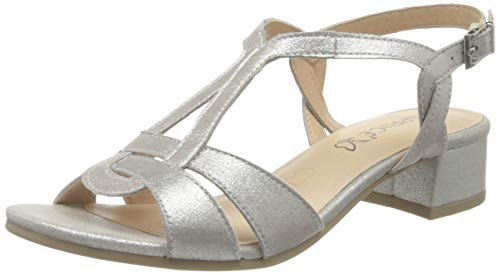 Caprice Damen Carla Riemchensandalen, Silber (Silver Metal 920), 38 EU