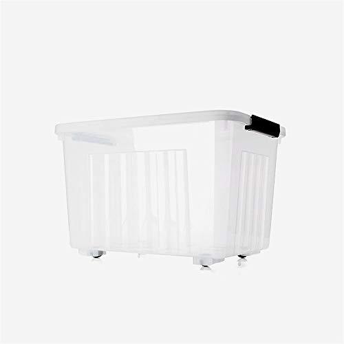 C-Bin-1 Transparante Opslag Cube, met gesp Storage Top Box Quilt Plastic Container Wheeled Box onder het Bed Storage Box 30L-120L Dagelijkse benodigdheden (Size : 52 * 38 * 34cm)