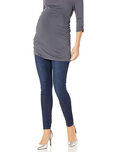 Jessica Simpson Women's Maternity Full Length Secret Fit Belly Skinny Leg Jegging, Dark Wash, 2X