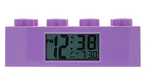 LEGO Kids' 9009853 Friends Purple Plastic Brick Alarm Clock
