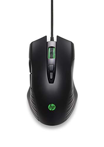 HP X220 Gaming Maus (3.600 DPI, PixArt Gaming Sensor, 7 Tasten, USB) schwarz