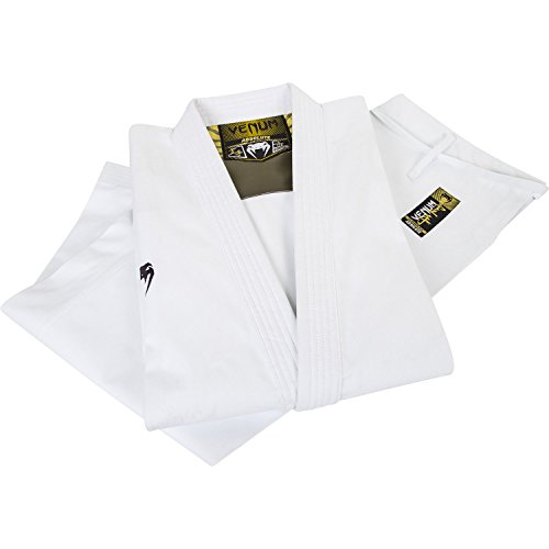 Venum Absolute–Kimono de Karate, Traje, Color Blanco - Blanco, tamaño XL (Taille Fabricant : 195 cm)