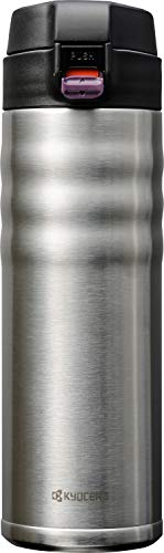 Kyocera 17oz. Ceramic Coated Interior, Double Wall Vacuum Insulated, Stainless Steel Travel Mug-Stainless Steel