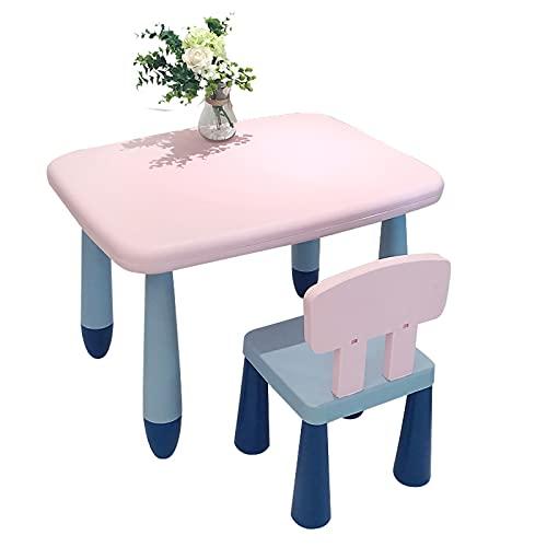 Kinderzimmertisch & -stuhlsets Stabiles Kindertisch- Und Stuhlset, Kindergarten-Studientisch, Spielzeugtisch, Einfach Zu Montieren Gelb, Kann 100kg Laden (Color : Style5)